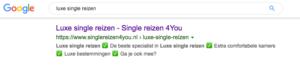 positie 1 google